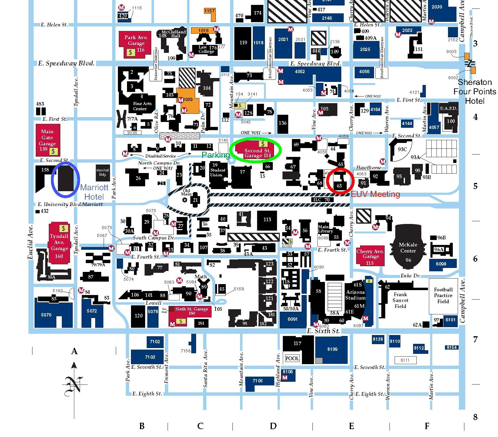 u of az campus map University Of Arizona Campus Map Afp Cv